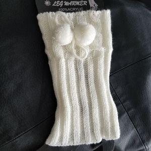 Off white leg warmers